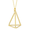 Triangle Necklace,14K Gold Plated Geometric Lariat Modern Triangle Necklace - TZARO Jewelry - 2