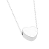 Tiny Heart Necklace, Silver Plated Floating Heart Necklace, Simple Heart Necklace - TZARO Jewelry - 2