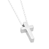 Tiny Cross Necklace, Silver Plated Small Christian Cross Necklace, Dainty Cross Charm - TZARO Jewelry - 2