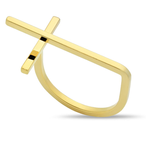 stackable knuckle, elegant gold ring