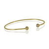 Expandable Tiny Ball Bangle Bracelet, CZ Crystals Adjustable Gold Plated Wire Bracelet - TZARO Jewelry - 3