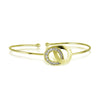 Rings Bracelet Gold Plated, CZ Interlocking Bracelet, Infinity Bracelet - TZARO Jewelry - 3