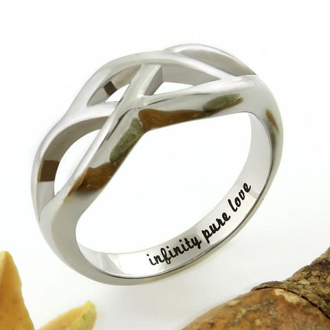 Infinity Ring - Pure Love Ring Engraved on Inside with