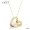 Mother Heart Necklace, 925 Silver, 14K Gold Plated Necklace for Mom