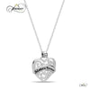 Sister Heart Necklace,  925 Silver, Silver Plated Necklace Engraved w