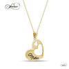 Elegant Mother Necklace, 925 Sterling Silver, Gold Plated Heart Pendant for Mother