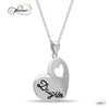 Elegant Daughter Necklace, 925 Silver, Silver Plated Heart Necklace for Child
