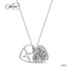 Mother Daughter Heart Necklace, 925 Silver, Silver Plated Two Heart Necklace