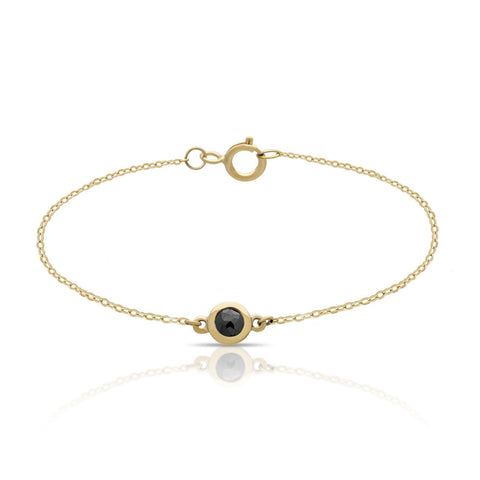black diamond bracelet, diamond bracelet, gold diamond bracelet
