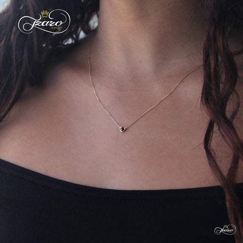gold diamond necklace, yellow gold necklace, real diamond necklace