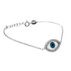 Fancy Evil Eye Necklace with Cubic Zirconia - TZARO Jewelry - 1