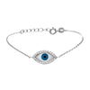 Fancy Evil Eye Necklace with Cubic Zirconia - TZARO Jewelry - 2