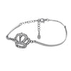 Dainty Crown Bracelet with Cubic Zirconia - TZARO Jewelry - 1