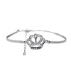 Dainty Crown Bracelet with Cubic Zirconia - TZARO Jewelry - 2