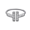 Dainty Adjustable Ring with Cubic Zirconia - TZARO Jewelry - 1