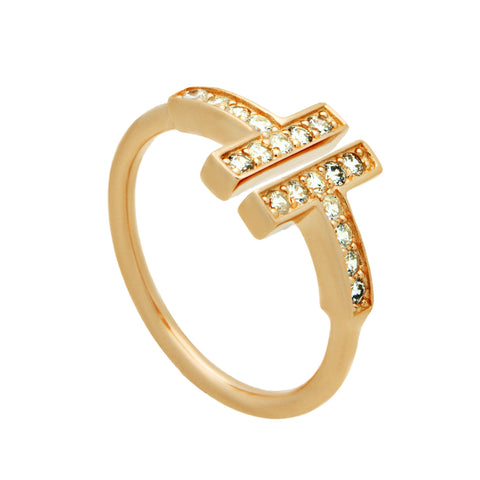 Dainty Adjustable Ring with Cubic Zirconia - TZARO Jewelry - 2