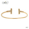 Stylish Adjustable Bracelet with Cubic Zirconia