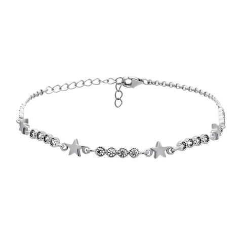 Dainty Star Bracelet with Cubic Zirconia