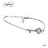 Dainty Key Bracelet with Cubic Zirconia