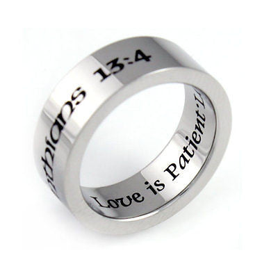 Purity Ring Love is Kind Gift Stainless Still Infinity Ring Boyfriend Girlfriend - TZARO Jewelry - 1