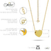 Tiny 925 Silver Necklace, 14K Gold Plated Floating Heart Necklace, Simple Heart Charm