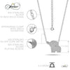 Small Elephant Necklace, 925 Sterling Silver, Silver Plated Mini Elephant Necklace