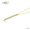 Drop Bar Pendant, 925 Sterling Silver, 14K Gold Plated Minimalist Necklace