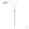 Vertical Bar Necklace, 925 Sterling Silver, Silver Plated Long Bar Pendant