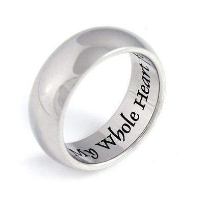 Purity Promise Ring My Whole Heart Stainless Still Infinity Ring Poesy Gift Love - TZARO Jewelry - 1