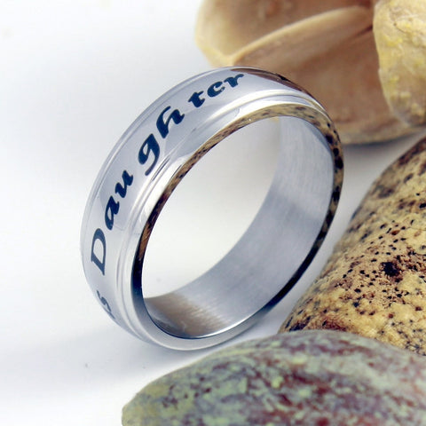 Daughter Ring Forever My Precious Daughter Gift Stainless Still Women's Ring, Mother Daughter Forever - TZARO Jewelry - 1