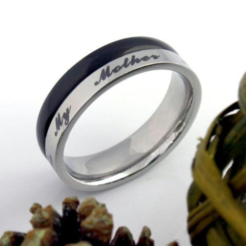 Mothers Ring All I Am I Owe To My Mother Ring Infinity Best Moms Ring. Mother Daughter Forever - TZARO Jewelry - 1
