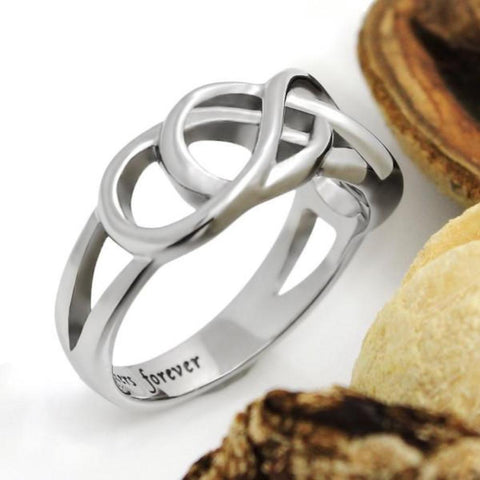 Purity Ring Sister Ring Forever Infinity Ring Gift for Sister - TZARO Jewelry - 1