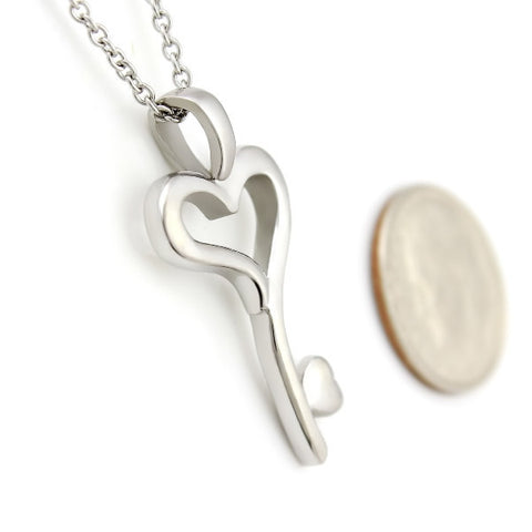 Key Heart Necklace Key Necklace From Heart Perfect Lovers Gift Heart Love Key - TZARO Jewelry - 2