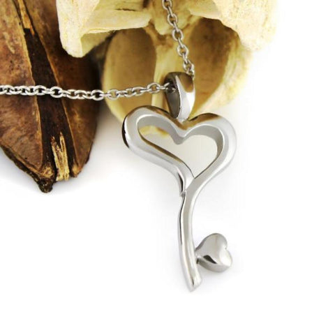 Love Necklace Key From The Heart Necklace Heart Necklace Key Perfect Lovers gift 18