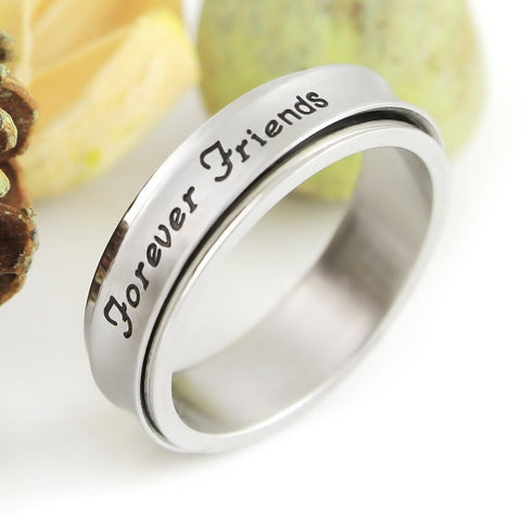Friend Ring Spinner Ring Engraved with