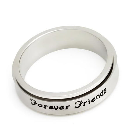 Forever Friends Spinner Ring Best Infinity Friendship Ring Purity Ring Gift Love - TZARO Jewelry - 1