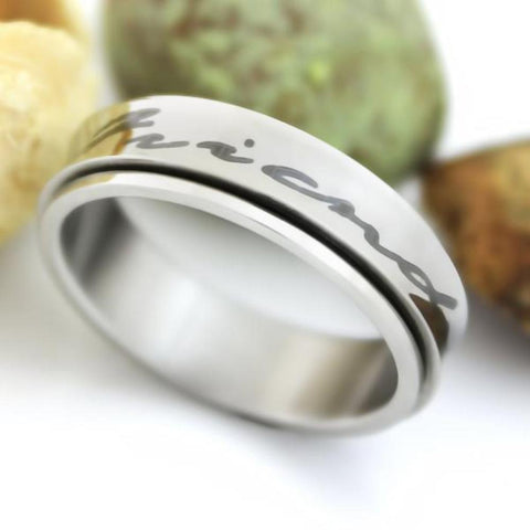 Friend Ring Spinner Ring Forever Friends Purity Unisex Ring Best Promise Gift - TZARO Jewelry - 1