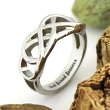 "Friend Ring Infinity Ring Promise Double Infinity Symbol Ring ""Best Friend Forever"" - TZARO Jewelry - 1"
