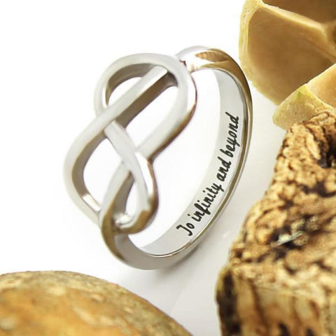 Couples Ring Infinity Symbol Ring Promise Ring