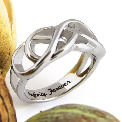 Couples Ring Purity Infinity Forever Friend Gift Stainless Still Womens