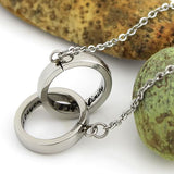"Infinity Necklace, Love Necklace, Friends Necklace Interlocking Bands ""To Infinity and Beyond"" Engraved inside - TZARO Jewelry - 1"