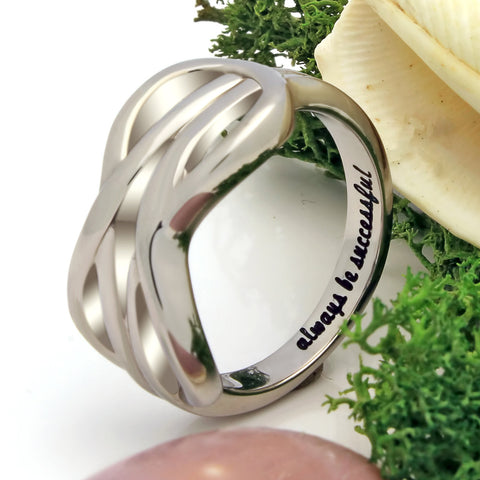 Infinity Ring, Friend Ring Double Infinity Symbol Ring