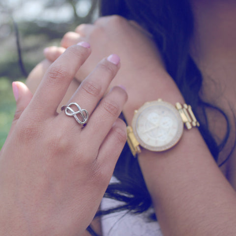 Infinity Ring For Daughter, Double Infinity Ring, Purity Ring
