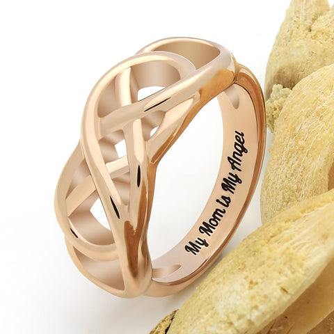 Double Infinity Mother Ring, Mom Promise Ring