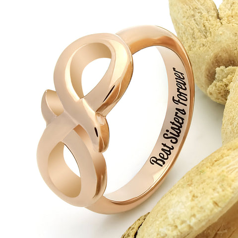 Infinity Ring for Sister Promise Ring Infinity Symbol Sister Ring