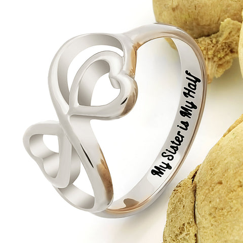 Sister Ring for Sister Double Infinity Ring, Promise Ring