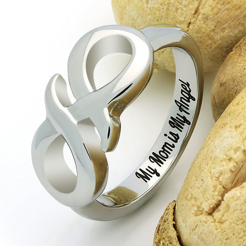 Infinity Ring for Mother, Mom Promise Ring Double Infinity Ring