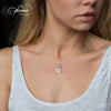 Elegant Mother Necklace, 925 Silver, Silver Plated Pearl Mom Necklace