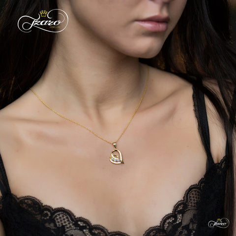Sister Heart Necklace for Best Sister, 925 Silver, 14K Gold Plated Pearl Necklace