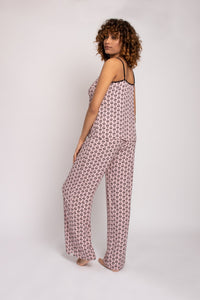EcoVero Cami Pant Pajama Set in Pink-Sleepwear-J Steed